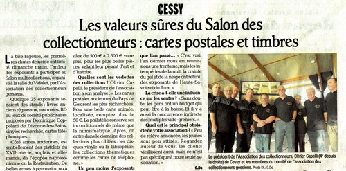 Association Collectionneurs Gessiens salon cessy 2012